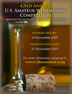 Winemaking Competition Flyer 2015